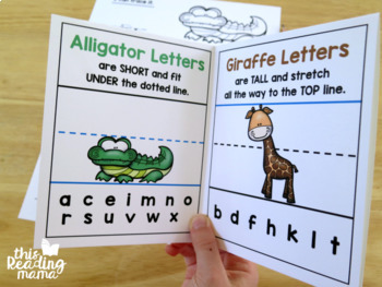 Animal Alphabet Handwriting Pages