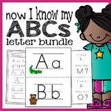 Now I Know My ABC's - Alphabet Handwriting, Flashcards, and Game Bundle