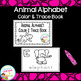 Animal Alphabet Interactive Book & Animal Alphabet Color & Trace Book
