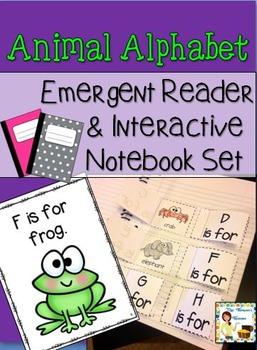 Animal Alphabet Interactive Notebook & Emergent Reader Set