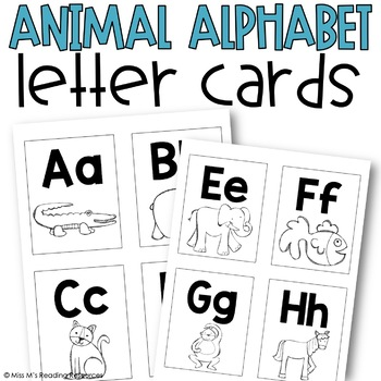 Letter Cards {Animal Alphabet}