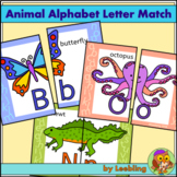 Animal Alphabet Letter Match Puzzle - Uppercase and lowerc