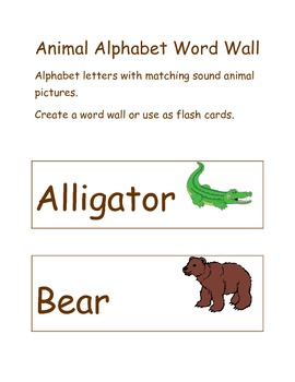 Animal Alphabet Letters with Pictures