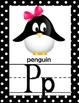 Animal Alphabet Line *Full Page *Black and White Polka Dot