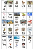 Animal Alphabet Linking Chart