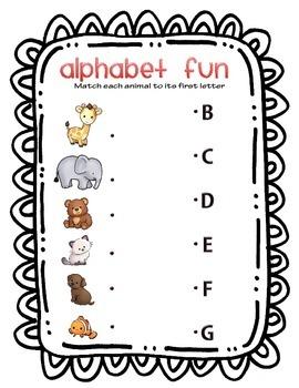 Animal Alphabet Match