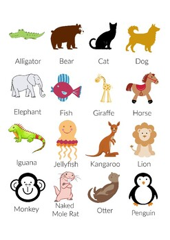 Animal Alphabet Match