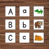 Animal & Alphabet Matching Cards