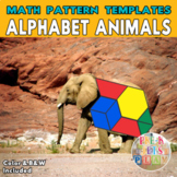 Animal Alphabet   Printable Math Pattern Block Templates