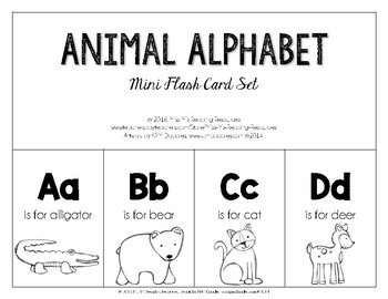 Mini Flash Card Set {Animal Alphabet}