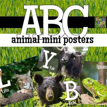 Animal Alphabet Mini Posters