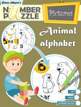 Animal Alphabet Number Puzzle Pictures