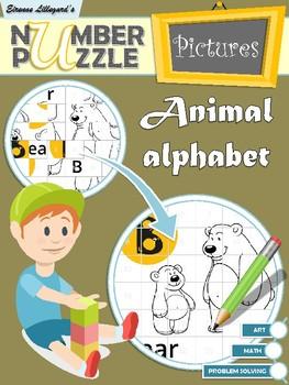 Animal Alphabet Number Puzzle Pictures
