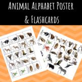 Animal Alphabet Poster & Flashcards