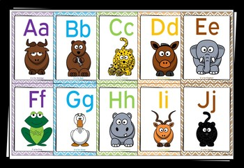 Alphabet Posters (Animals) - FREEBIE