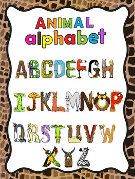 Animal Alphabet Posters  -  2 different fonts