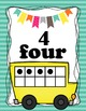 Animal Alphabet Posters ABC- with Bus Ten Frame Posters 0-20