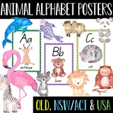 Animal Alphabet Posters - QBeginners (QLD), NSW/ACT or USA Font