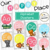 Animal Alphabet Posters   Our Happy Place Classroom Decor