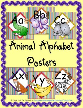 Animal Alphabet Posters (square)