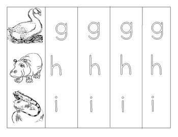 Alphabet Writing Practice - print