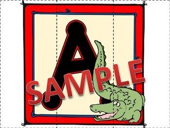 Animal Alphabet Puzzles