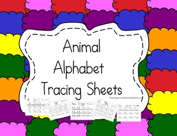 Animal Alphabet Tracing Sheets