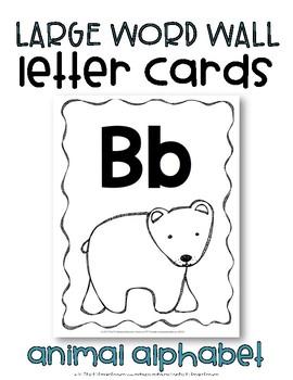 Large Alphabet Wall Cards {Animal Alphabet}