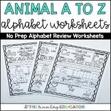 Alphabet Worksheets A to Z (Kindergarten Alphabet Worksheets)