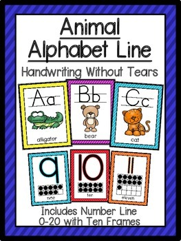 Animal Alphabet and Number Line-Handwriting Without Tears Style
