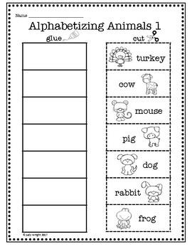 Animal Alphabetizing