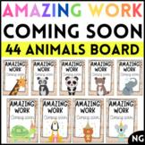 Animal Amazing Work Coming Soon Bulletin Board Display