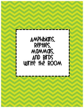 Animal (Amphibian, Reptile, Mammal, and Bird) Write the Room