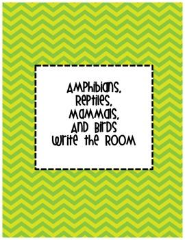 Animal (Amphibian, Reptile, Mammal, and Bird) Write the Room