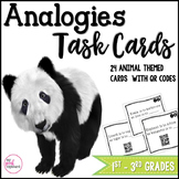 Analogies Task Cards with QR Codes - Critical Thinking - Common Core Aligned