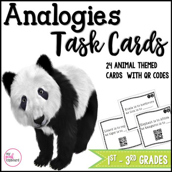 Analogies Task Cards with QR Codes - Critical Thinking - C
