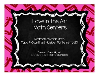Love In the Air Math Centers-Pearson enVision First Grade