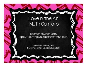 Love In the Air Math Centers-Pearson enVision First Grade Math Topic 7