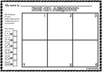 Number Worksheet Games - Animal Antics - Print Play and Paste