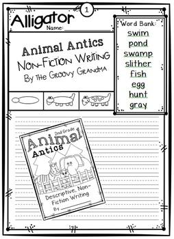 Animal Antics Writing and Drawing
