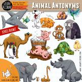 Animal Antonyms - Opposites - Adjectives Clip Art