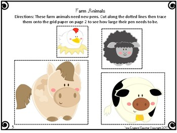 Animal Area Project: A Math Activity for Finding Area of Rectangles