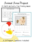 Animal Area Project: A Math Activity for Finding Area of R