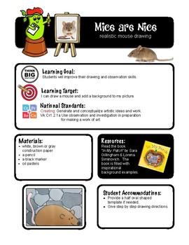 Clay -Mice Art Lesson