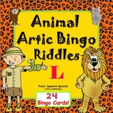 Articulation and Listening- Animal Bingo Riddles L