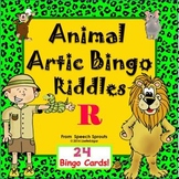 Articulation and Listening- Animal Bingo Riddles R