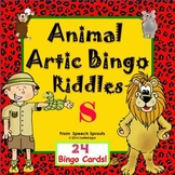 Articulation and Listening- Animal Bingo Riddles S