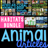 Animal Articles: Informational Article, QR Code Research Page & Fact Sort BUNDLE