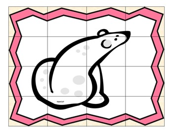 Animal Articulation Puzzle B Freebie