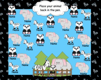 Animal Attendance for SMARTBoard Interactive